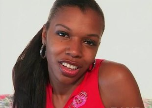 A startling ebony got naughty before this babe was fucked doggy style