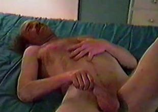 Mature Amateur Gene Jerks His Cock