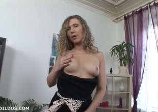 Biggest toys are her greatest pleasure as she loves to masturbate