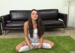 Amazing dark brown uses her toys to receive some fantastic vibrations