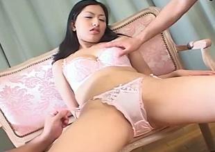 Luscious babe Ran Asakawa finger fucked in arousing porn movie