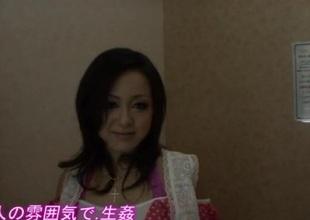 Rui Natsukawa brunette hair babe devours penis in hardcore