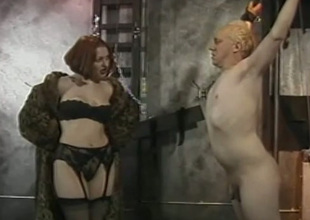 Kinky ginger mastix puts guy in handcuffs and humiliates him
