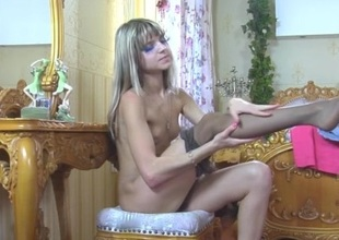 GinaGerson in hot pantyhose video