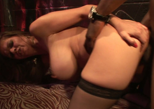 Large tittied floozy June Summers is fucked hard by BBC