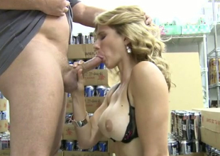 Irresistible blonde girl Cory Chase sucks tasty dong
