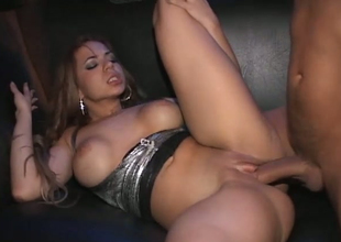 Hot damsel with great body Dylan Daniels gets nailed in group sex