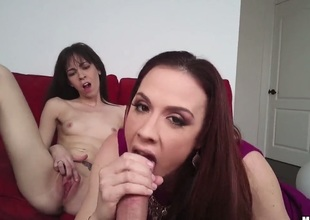Chanel Preston receives face slammed by studs stiff dong