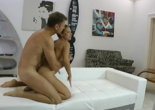 Szilvia B just feels intensive sexual desire and sucks Rocco Siffredis fuck stick like crazy