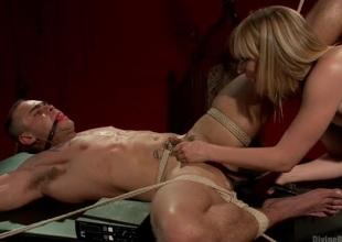 ELECTRO FEMDOM: Mona Wales Electrically Teases and Tortures Thrall Boy