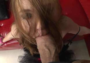 Wicked Czech hottie Linda Sweet gets her mouth screwed by a giant cock from your point of view. Horny guy with thick dick bangs her face with no mercy. But fascinating euro slut Llinda Sweet likes it!