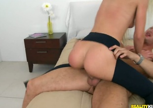Danny Mountain whips out his love wand to fuck flirtatious Carmen Monets throat