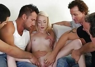 MyVeryFirstTime - New uncensored version - Maddy Rose first gang team fuck