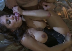 Francesca Le lets dude shove his rock hard love stick in her mouth