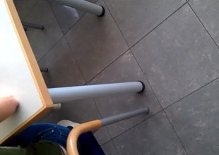 voyeur student strap in class room