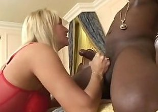 Immodest MILF takes big dark dicks in all holes