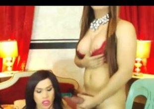 Transsexuals having sex on livecam
