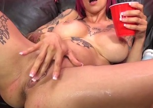 Couch is wet with her pussy squirting juices