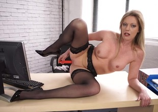 Office JOI from a stockings babe