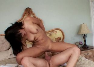 Sweet ebony princess is eager to test a handsome white dude